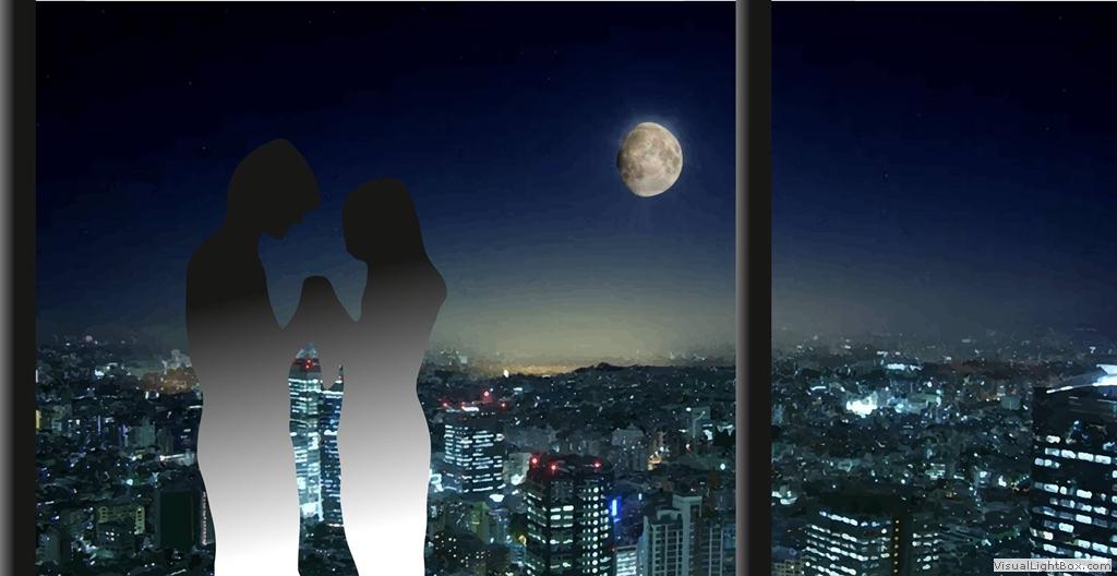 Tokio mit Mondhimmel