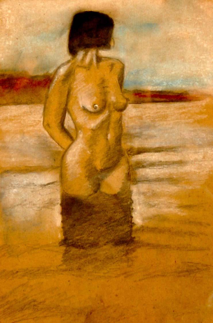 Frau im See